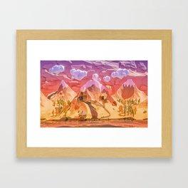 abandoned goldmine Framed Art Print