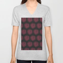 Pattern with roses Unisex V-Neck