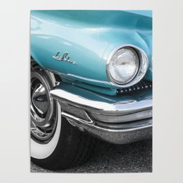 Vintage Car Photography   Turquoise Bedroom Art Poster