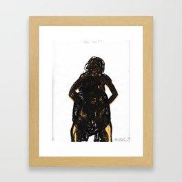 ¿Eres tú? Framed Art Print