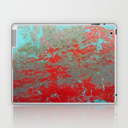 texture - aqua and red paint Laptop & iPad Skin