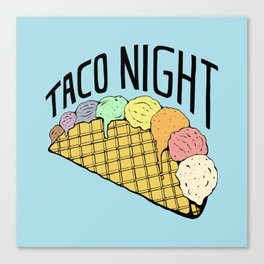 Ice Cream Taco Night Canvas Print