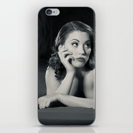 """""""Bored Now"""" - The Playful Pinup - Modern Boudoir with Piercing by Maxwell H. Johnson iPhone Skin"""
