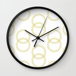 Simply Infinity Link Mod Yellow and White Wall Clock