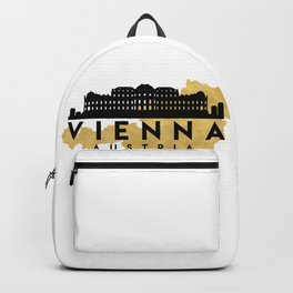 VIENNA AUSTRIA SILHOUETTE SKYLINE MAP ART Backpack
