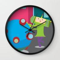 katamari Wall Clocks featuring Katamari Demacy by Of Lions And Lambs