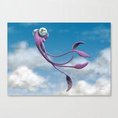 Choco the Sky Squid Canvas Print