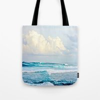 skyrim Tote Bags featuring Water by Whimsy Romance & Fun