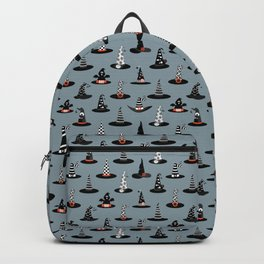 Halloween - Witch Hats on Gray Backpack