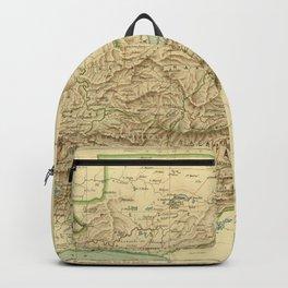 Vintage Guatemala Map (1883) Backpack