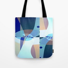 Abstract Fractal Art - Quistere- Cubism- Picasso Art Tote Bag