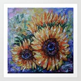 Ah, Sunflower by Lena Owens Art Print