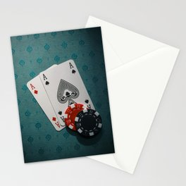 Aces and Chips Stationery Cards