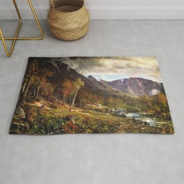 Crawford Notch 1872 By Thomas Hill | Reproduction Rug