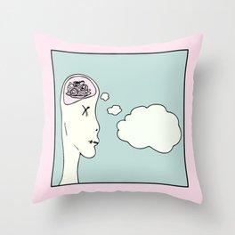 Spagetti Head Throw Pillow