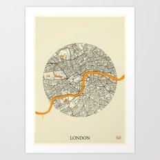 London Map Moon Art Print