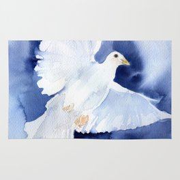 Dove Watercolor Rug