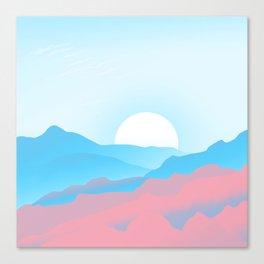 Transgender Pride Sunrise over Mountains Canvas Print