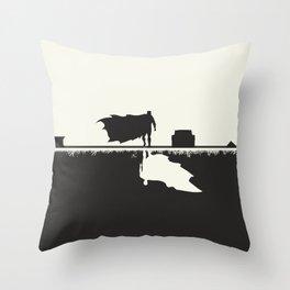 Day Versus Night Throw Pillow