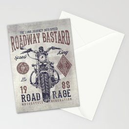 Vintage Motorcycle Poster Style Stationery Cards