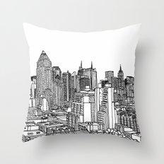 New York View 2 Throw Pillow