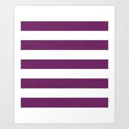 Byzantium - solid color - white stripes pattern Art Print