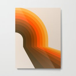 Golden Halfbow Metal Print