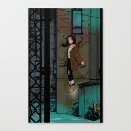 Floating Girl Canvas Print