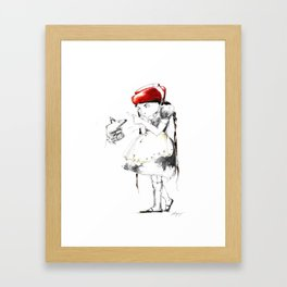 THE WARNING Framed Art Print