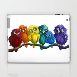 Rainbow Owls Laptop & iPad Skin