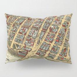 Vintage Pictorial Map of Minneapolis MN (1891) Pillow Sham
