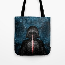 Darth Vader with Lightsaber in Galaxy Tote Bag