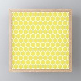 Summery Happy Yellow Honeycomb Pattern - MIX & MATCH Framed Mini Art Print