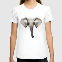 low poly T-shirts featuring Low Poly Elephant Illustration by Caeli