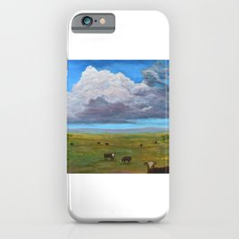 Cows under Thundercloud iPhone Case