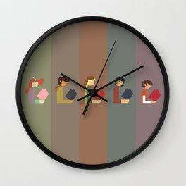 Lumber Ladies Read Wall Clock
