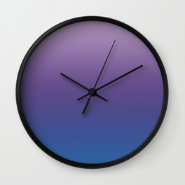 Ultra Violet Blue Lilac Ombre Gradient Pattern Wall Clock