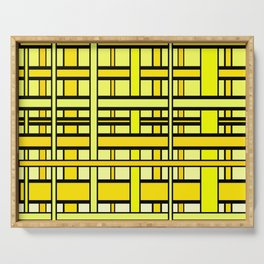 Yellow grid Serving Tray