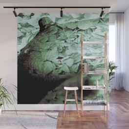 Green Floral Breasts Wall Mural