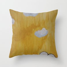 Plant with Yellow Sky Throw Pillow