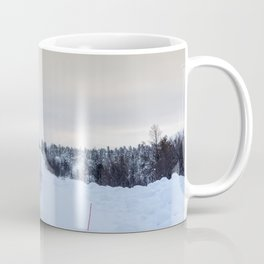 Icy Road in Finland Coffee Mug