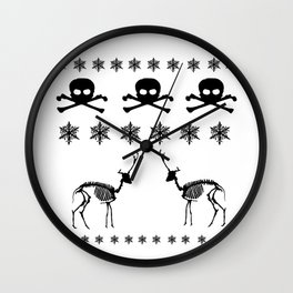 Scary Christmas Design Wall Clock