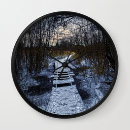 An Icy Winter's Path Wall Clock