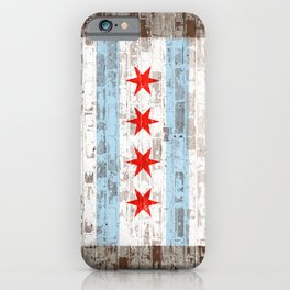 Chicago Flag on Brick Wall Urban City Pride  iPhone Case