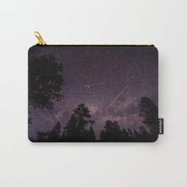 Busy Sky - Shooting Stars, Planes and Satellites in Colorado Night Sky Carry-All Pouch