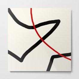 abstract minimal 46 Metal Print