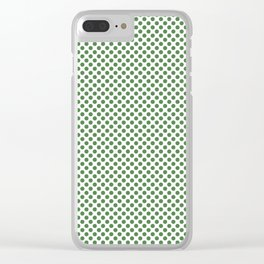 Hippie Green Polka Dots Clear iPhone Case