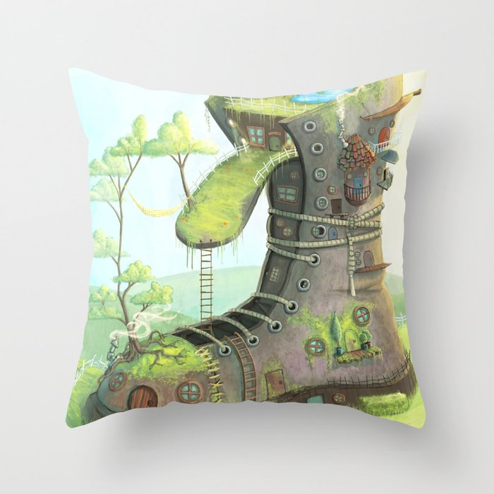 There was an old woman... Throw Pillow
