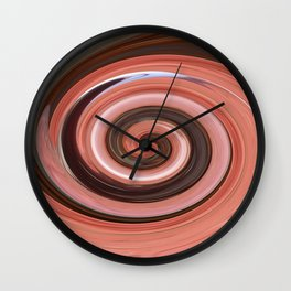 Swirl - Colors of Rust/Rostart  Wall Clock