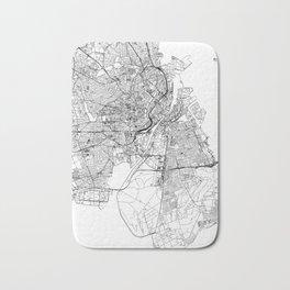Copenhagen White Map Bath Mat